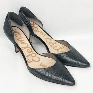 Sam Edelman | d'Orsay Pumps Heels Metallic Silver